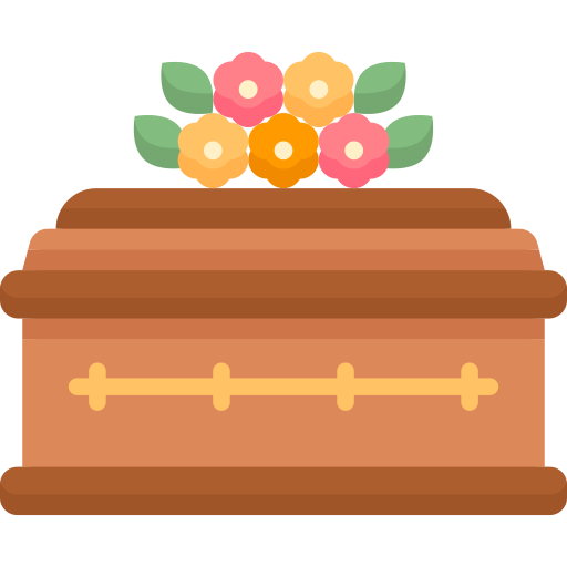 coffin with flowers icon